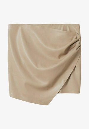 DRAPPY - Wrap skirt - licht/pastelgrijs