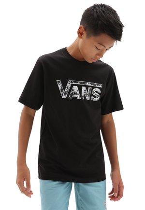 LOGO FILL  - T-shirt imprimé - black/tie dye skull