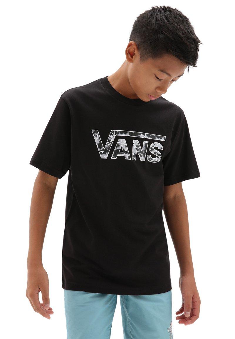 Vans - BY VANS CLASSIC LOGO FILL BOYS - T-shirt con stampa - black/tie dye skull