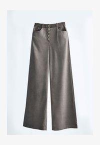 Massimo Dutti - MIT KNÖPFEN  - Trousers - grey - 0