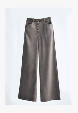 MIT KNÖPFEN  - Trousers - grey