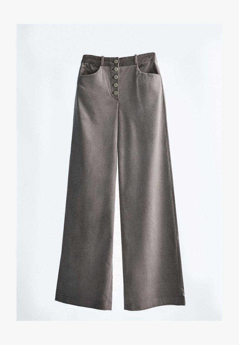 Massimo Dutti - MIT KNÖPFEN  - Trousers - grey