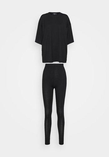 SET - Leggings - black