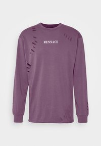 DISTRESSED - Long sleeved top - purple