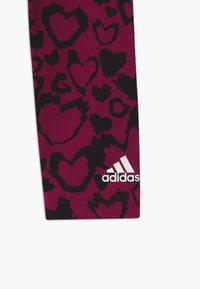 adidas Performance - UNISEX - Leggings - berry/black - 2