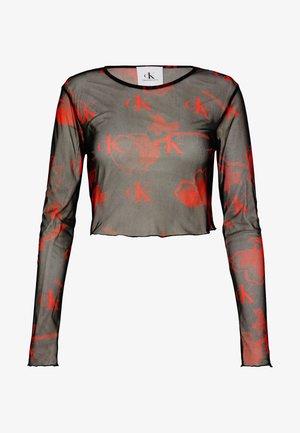 CK ONE MODERN SLIM CROP TEE - Long sleeved top - roses fury