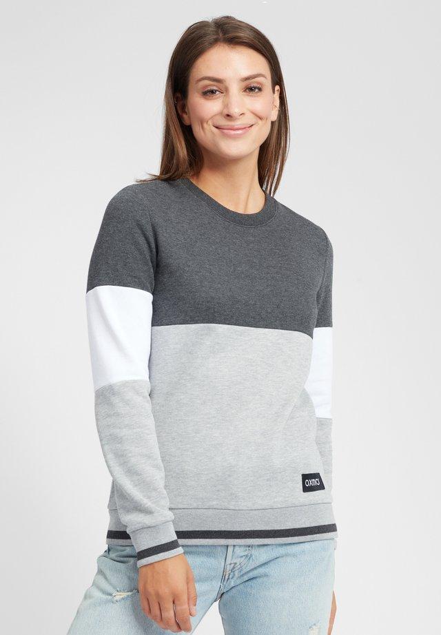 OMAYA - Sweater - dark grey melange