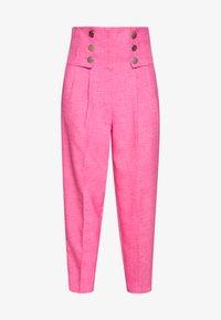 Topshop - PINK BUTTON DETAIL  - Pantalones - pink - 3