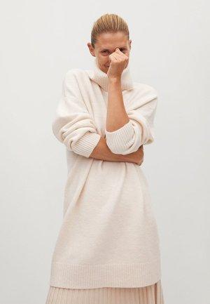 TALDORA - Gebreide jurk - béžová