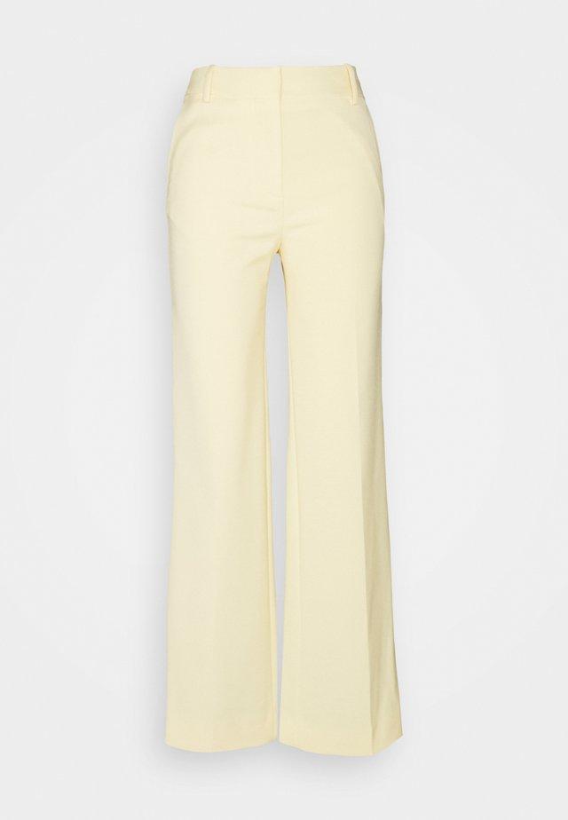 STRAIGHT LEG TROUSER - Trousers - butter yellow
