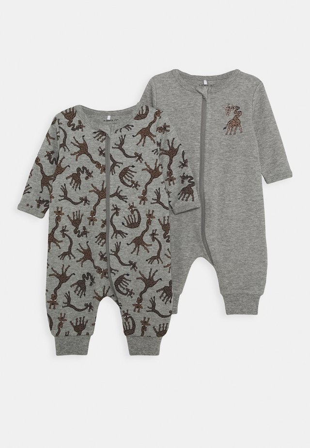 NBMNIGHTSUIT  ZIP GIRAFFE 2 PART - Pyjama - grey melange