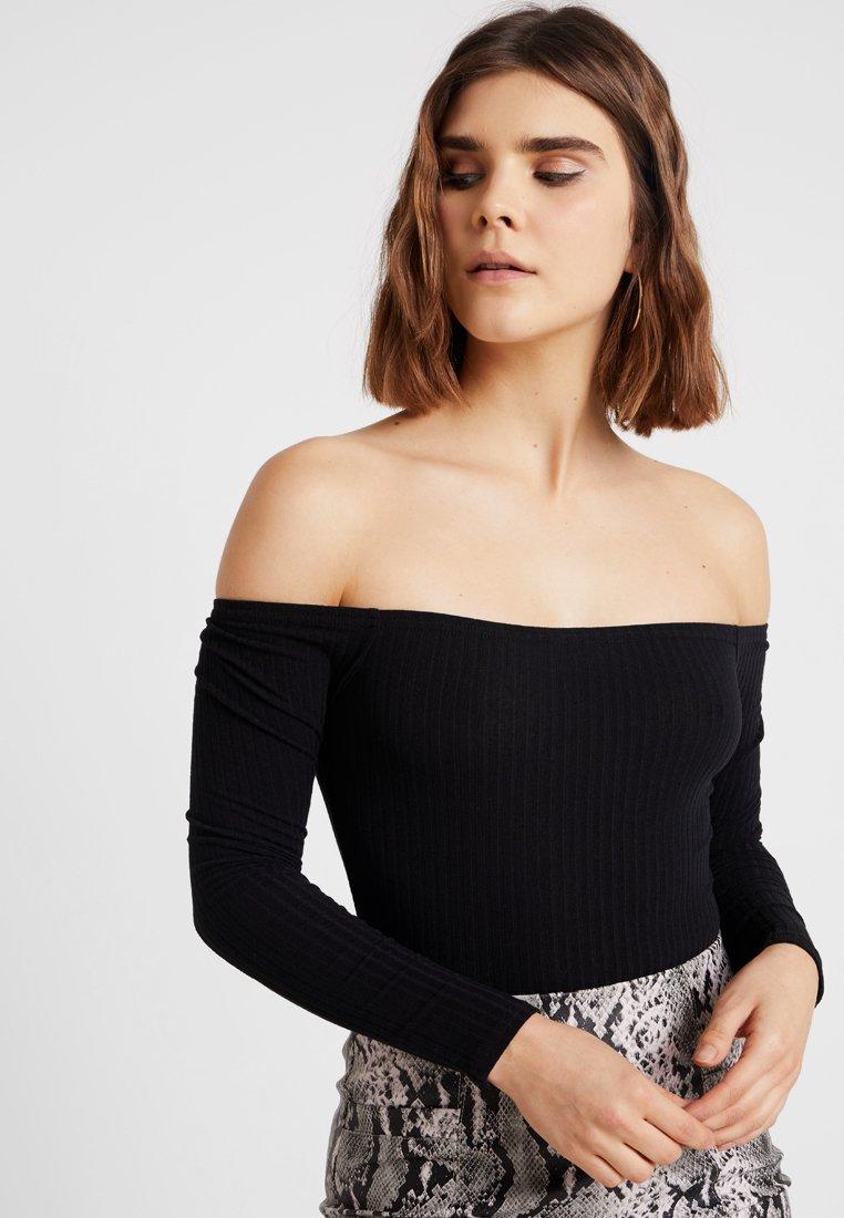 New Look - BARDOT BODY - Long sleeved top - black