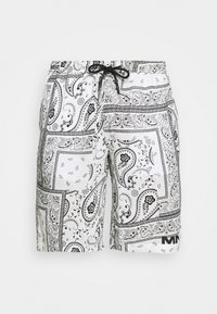 Mennace - BANDANA PRINT PULL ON - Shorts - white - 3
