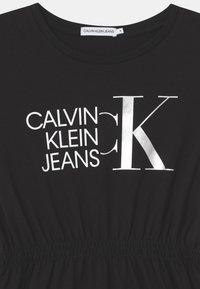 Calvin Klein Jeans - HYBRID LOGO  - Vestito di maglina - black - 2