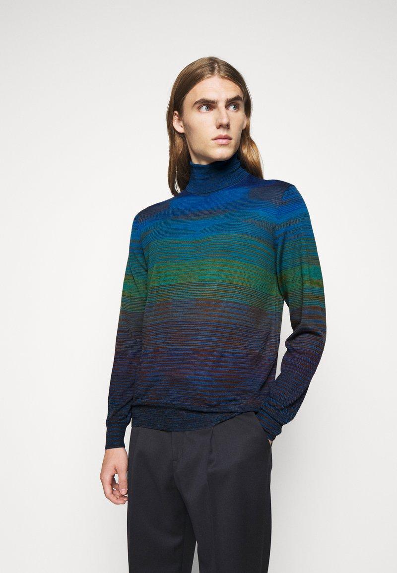 Missoni - LONG SLEEVE CREW NECK - Pullover - dark blue