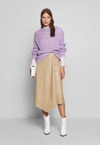 Gestuz - EVIE SKIRT - A-line skirt - safari - 1