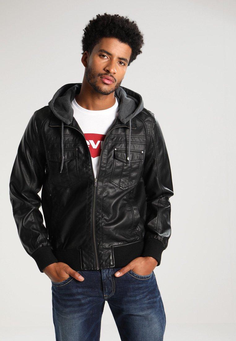 YOURTURN - Imitatieleren jas - black