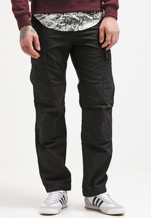 REGULAR COLUMBIA - Pantalon cargo - black rinsed