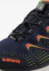 Lowa - MADDOX GTX - Hiking shoes - navy/limone - 5
