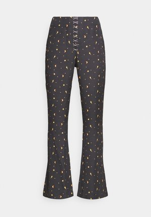 MYSTICAL TROUSER HOOK & EYE DETAILING - Kalhoty - black