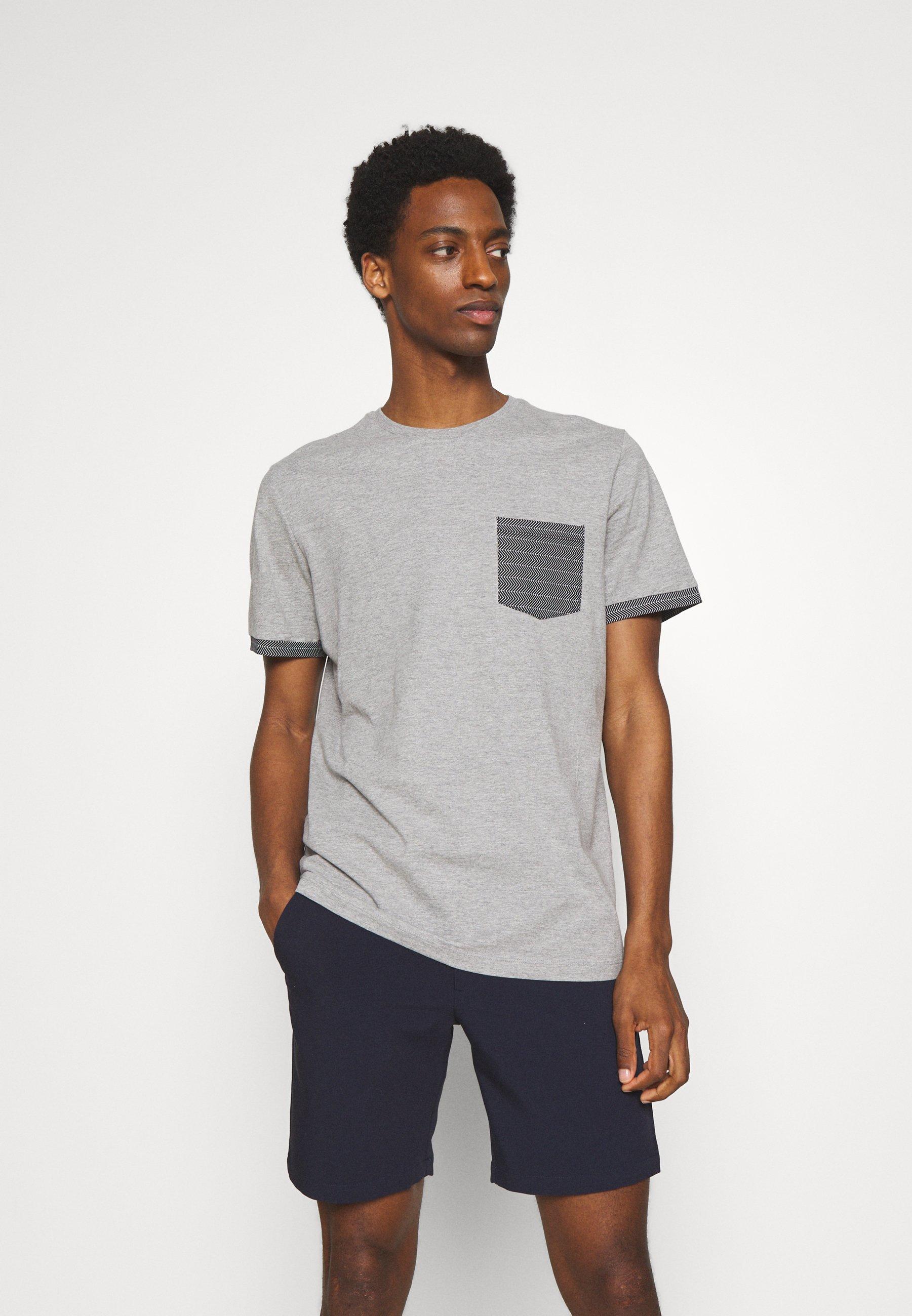 Uomo SLHREGADAO O NECK TEE - T-shirt con stampa