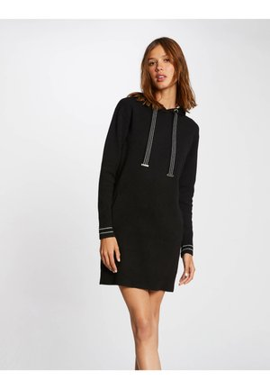 STRAIGHT WITH HOOD - Robe pull - black