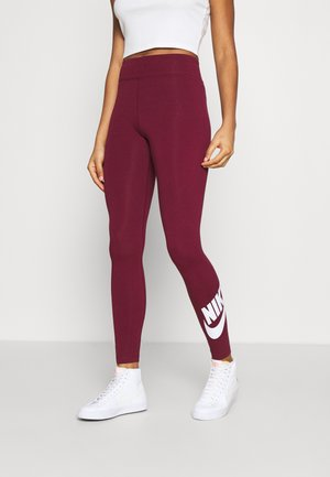 LEGASEE FUTURA - Leggings - dark beetroot/white