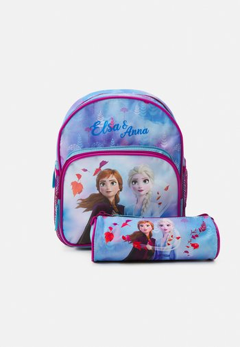 BACKPACK AND PENCIL CASE FROZEN CONNECTED BY NATURE SET  - Batoh - blue