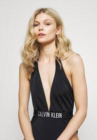 Calvin Klein Swimwear - INTENSE POWER PLUNGE ONE PIECE - Swimsuit - black - 3