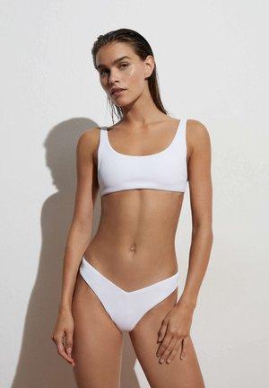 HOCH GESCHNITTENER IN V FORM - Bikini bottoms - white