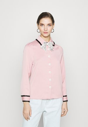DINE WITH ME BOW SHIRT - Blouse - pink