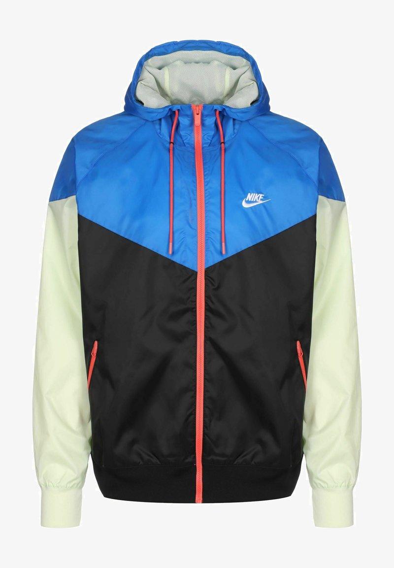 Nike Sportswear - Vindjacka - black/signal blue/lime ice/white
