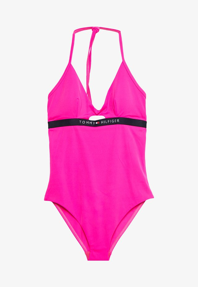 CORE SOLID LOGO ONE PIECE - Swimsuit - pink glo