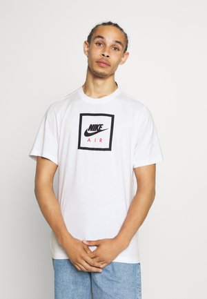 M NSW SS TEE AIR 2 - T-shirt med print - white/black