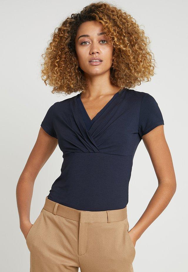 OVERLAP - T-shirt imprimé - navy