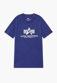 Alpha Industries - BASIC - Print T-shirt - nautical blue - 0