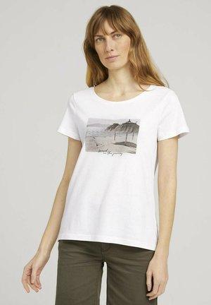 Print T-shirt - whisper white