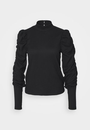 VMSIE HIGHNECK GATHERING - Pusero - black