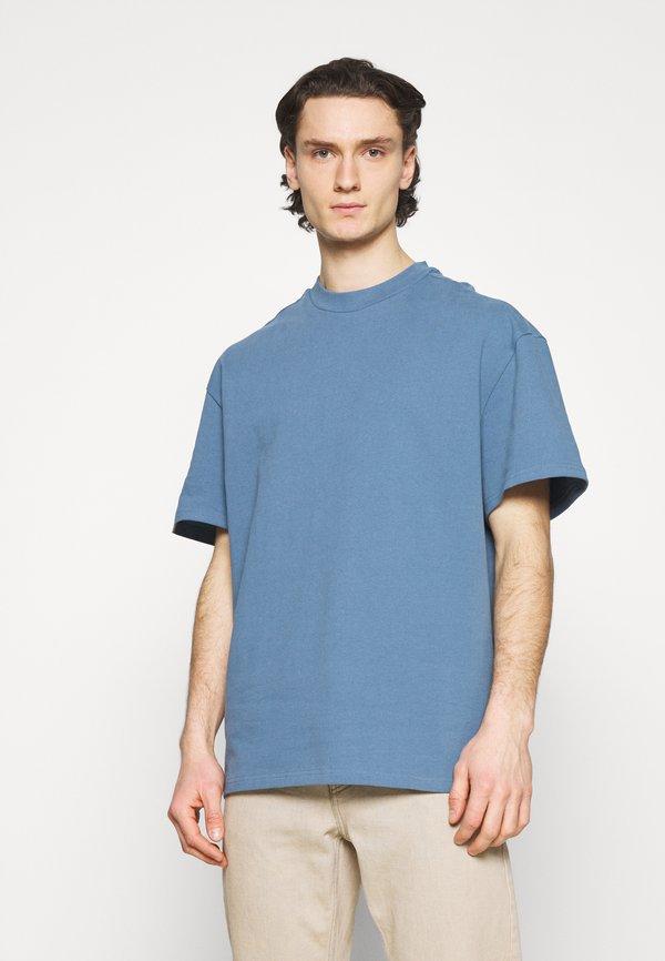 Weekday GREAT - T-shirt basic - dusty blue/niebieski Odzież Męska RTDS