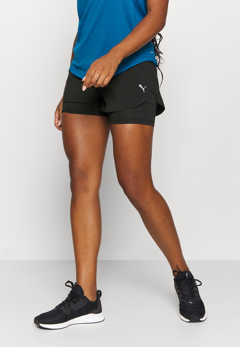 Puma - RUN FAVORITE - Sports shorts - black
