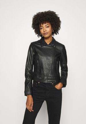 CAYA - Leather jacket - black