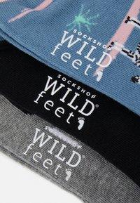 Wild Feet - WILDFEET ZEBRA SOCKS 3 PACK - Sokken - multi-coloured - 3