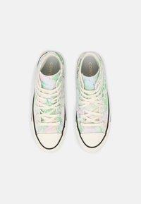 Converse - CHUCK TAYLOR ALL STAR SUMMER FEST - Zapatillas altas - egret/spring green/black - 5