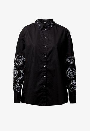 CHIARA - Button-down blouse - black