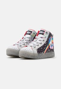 Skechers - SHUFFLE BRIGHTS - High-top trainers - black/multicolor/silver - 1