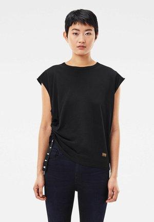 GSRAW KNOTTED - Print T-shirt - dk black