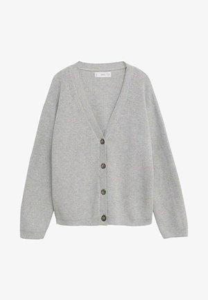 Cardigan - gris chiné clair