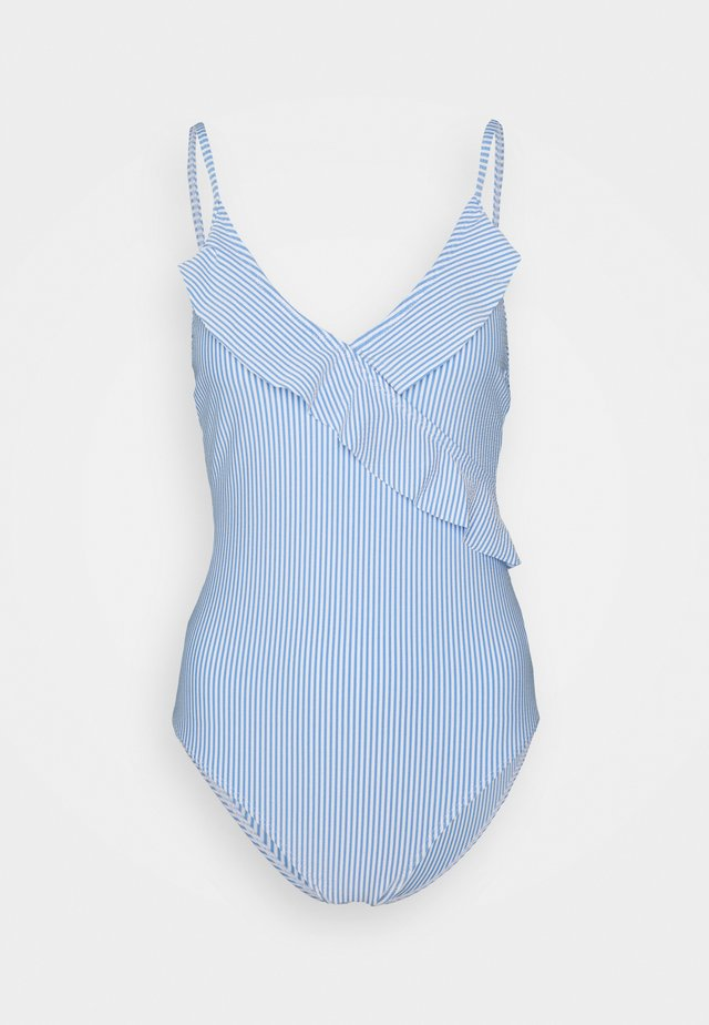STRIBA FRILL SWIMSUIT - Badedrakt - blue
