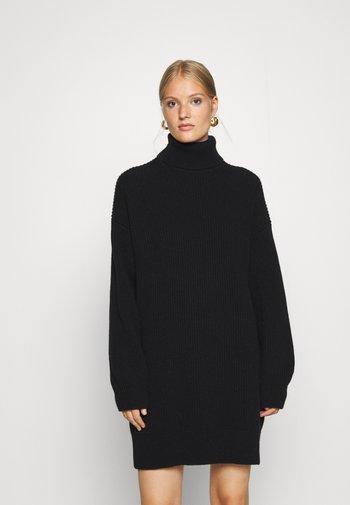 JARDANY - Stickad klänning - schwarz