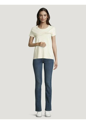 T-shirt print - soft creme beige
